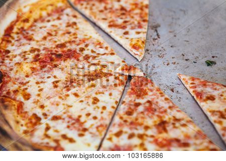 Pizza in street fast food cafe