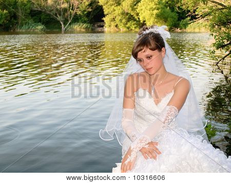 Bride Longs At The Lake