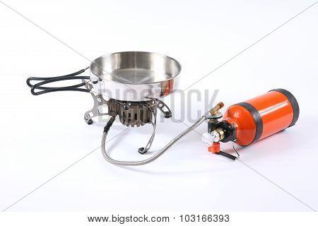 Tourist Metal Pan With Multi-fuel Burner