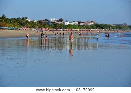 Late Afternoon At Low Tide On Legian Beach, Bali