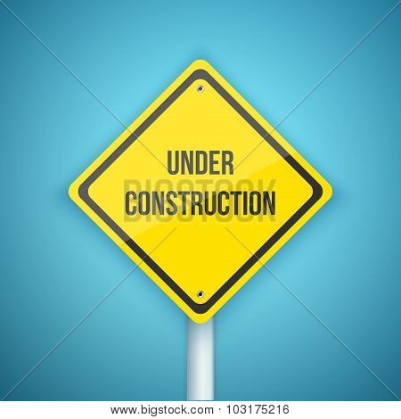 Photorealistic Vector Website Under Construction Road Sign