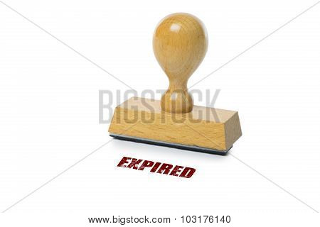 Expired Rubber Stamp