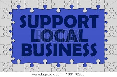 Support Local Business With Jigsaw Border