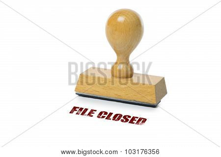 File Closed Rubber Stamp