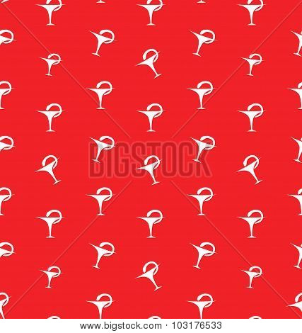 Seamless Pattern with Caduceus Medical Symbol