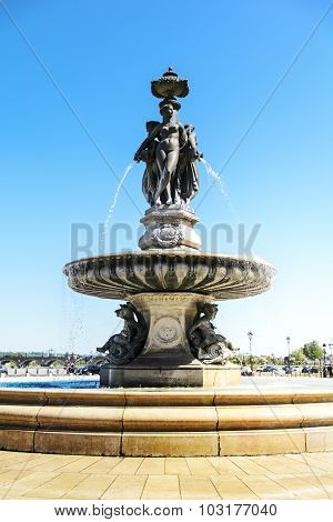 Water Jet In Bordeaux, Aquitaine, France