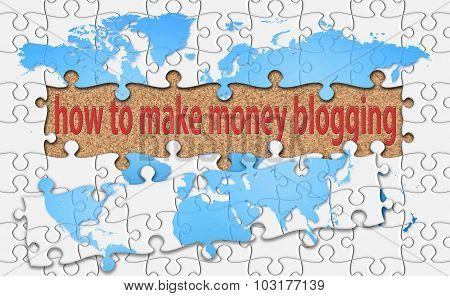 How To Make Money Blogging Word With Reveal Jigsaw