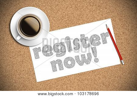 Coffee And Pencil Sketch Register Now On Paper