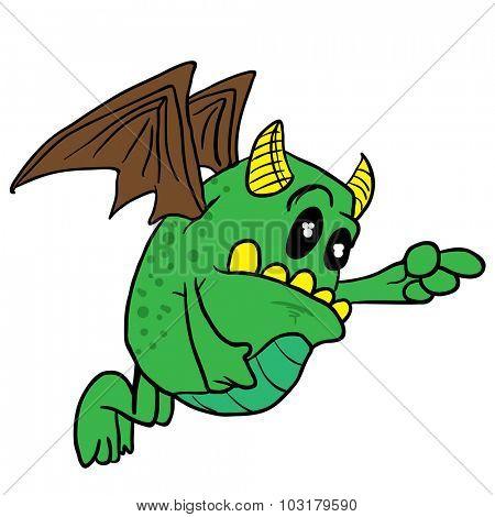 winged monster cartoon illustration