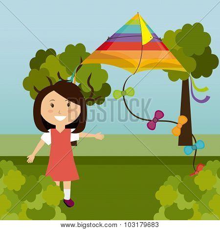 Kite childhood game