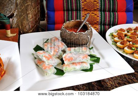Vietnamese Style Spring Roll.