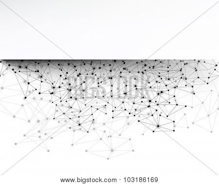 Communication social strip background. Vector Illustration.