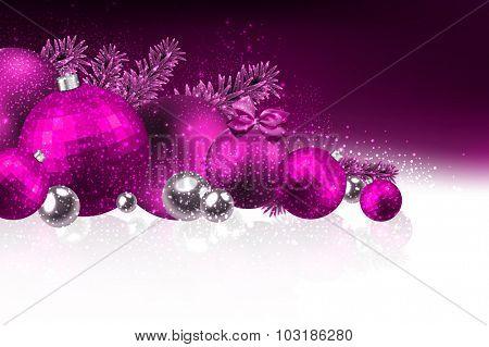 Christmas card with christmas balls. Vector Illustration.