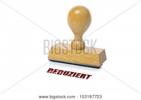 Reduziert Rubber Stamp