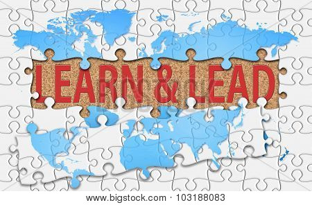 Learn And Lead Word With Reveal Jigsaw