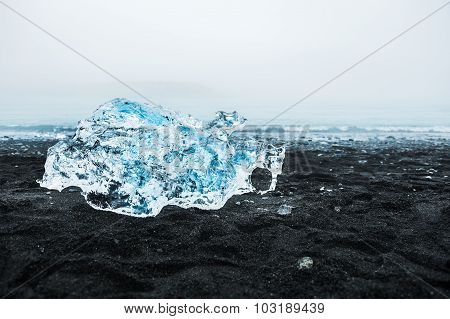 Beautiful Ice On The Coast Of The Atlantic Ocean
