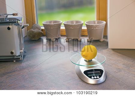 Lemon On An Electronic Scales