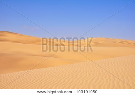 Driving Across the Sand Dunes