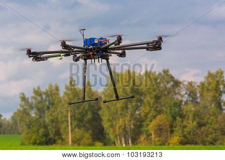 Multicopter in flight
