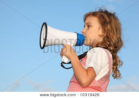 Lovely Little Girl, Against Blue Sky, Speaks In Loudspeaker