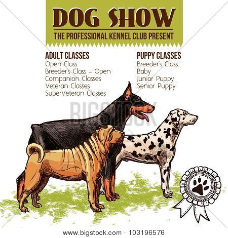 Dogs Show Illustration