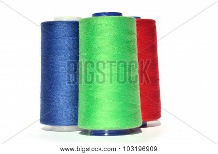 Green Blue And Red Thread