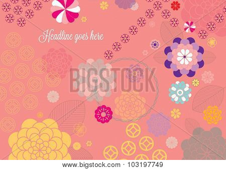 Vector of abstract oriental festive background