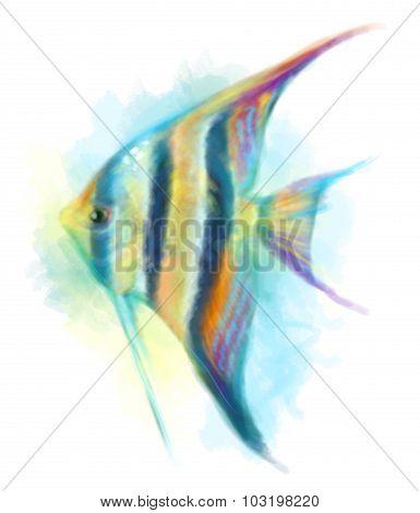 Abstract fish aquarium. Illustration