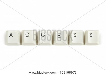 Access From Scattered Keyboard Keys On White
