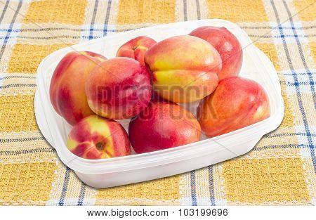 Tray With Ripe Nectarines