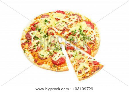 Pizza On A Light Background