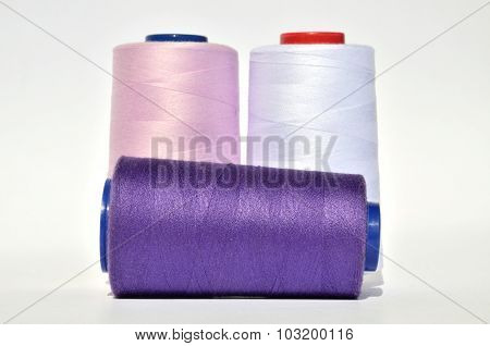 Violet And White Thread