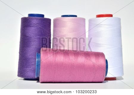 Violet And White Threads