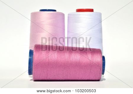 Violet Pink And White Thread