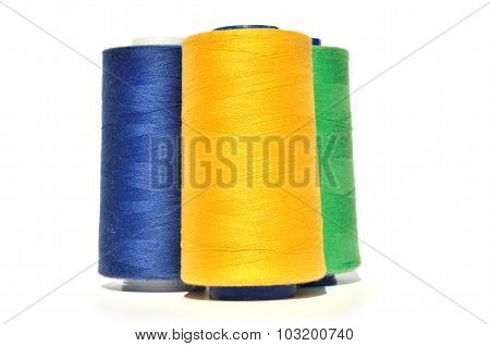 Yellow, Blue And Green Thread