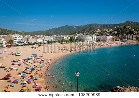 Beach of Tossa de Mar, Costa Brava, Spain