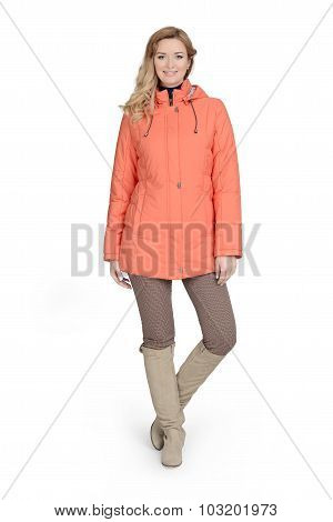 Young Woman In Short Coat