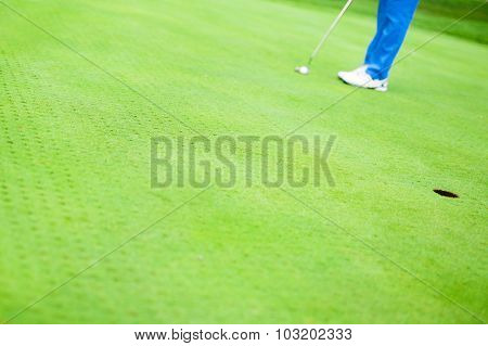 Golfer Ready To Take The Shot