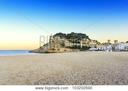 At the beach at golden hour, Costa Brava, Tossa De Mar, Spain