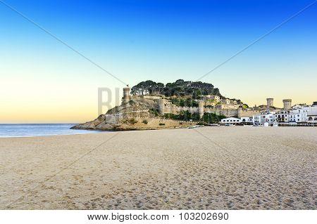 At the beach at golden hour, Costa Brava, Tossa De Mar, Spain