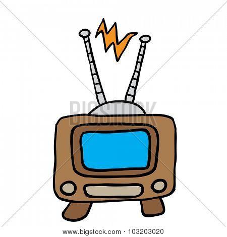 retro tv cartoon illustration