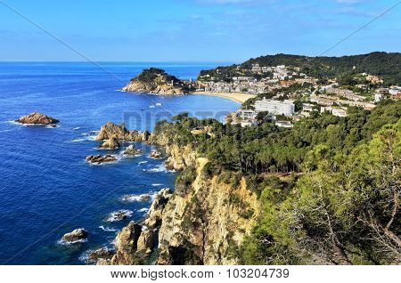 View Of Tossa De Mar City, Costa Brava, Spain