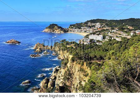 View Of Tossa De Mar City, Costa Brava, Spain