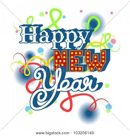 Happy New Year invitation. vector illustration