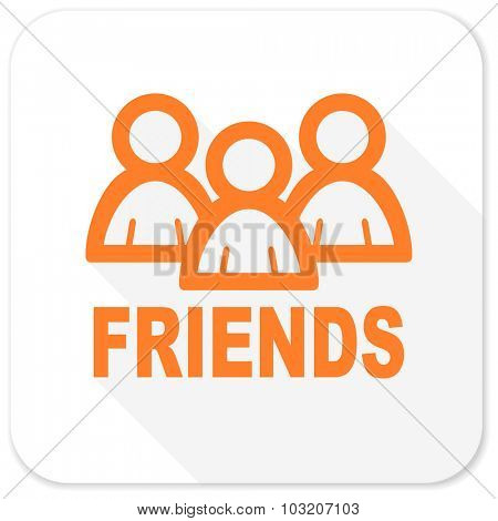 friends flat icon