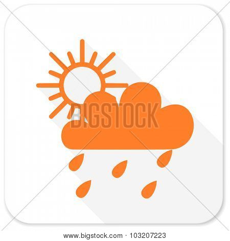 rain flat icon