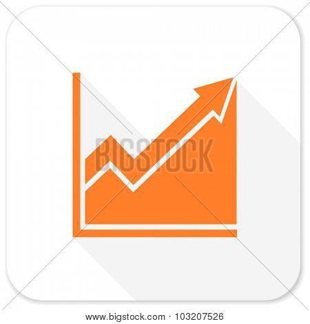 histogram flat icon