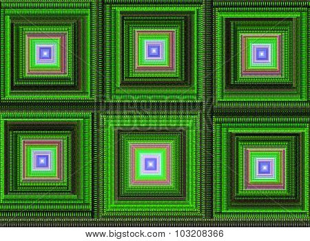 Abstract digital fractal square art