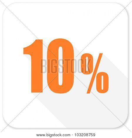 10 percent flat icon