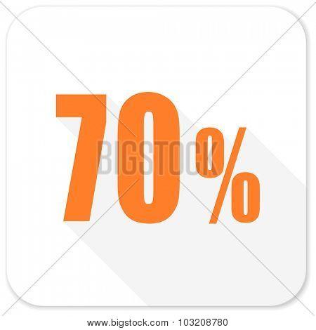 70 percent flat icon